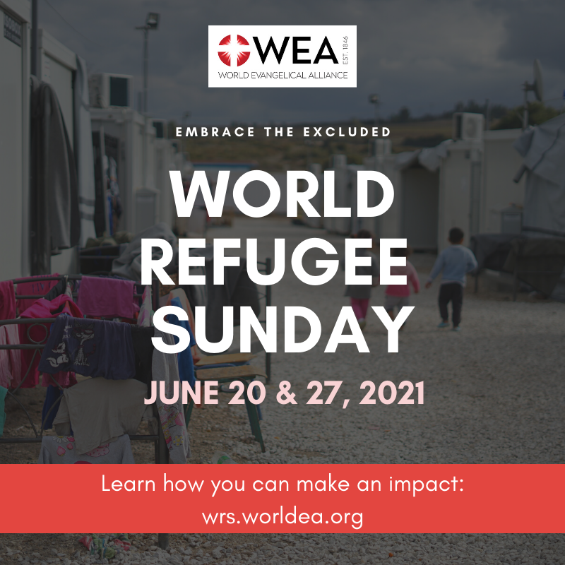 Red Text Overlay World Refugee Day Social Media Graphic (1)